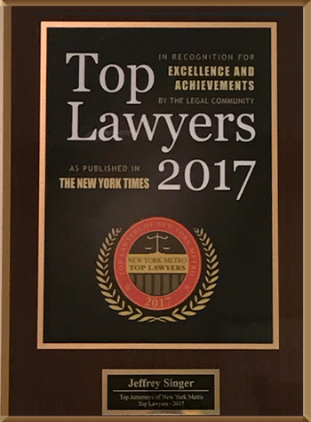 Top Lawyers - New York Times 2017